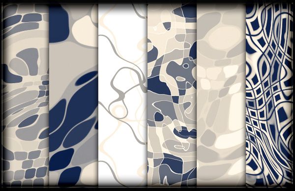 Abstract Wavy Photoshop Patterns