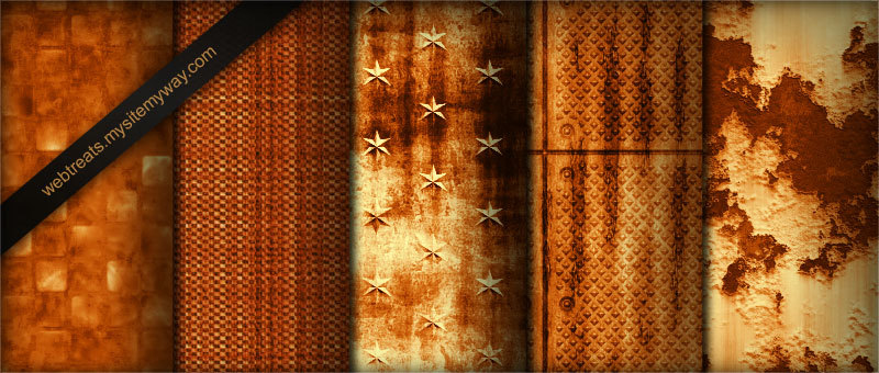 Tileable Burnt Orange Industrial Grunge Textures – Part 2