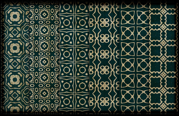 Ornate Royal Green Grungy Patterns Part 2