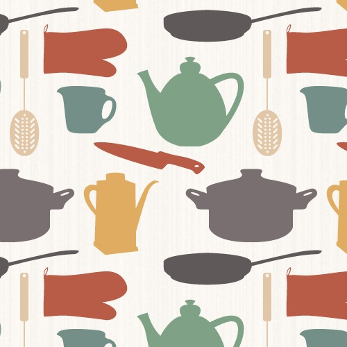 kitchen Items Pattern
