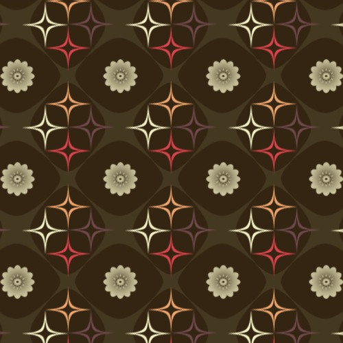 Retro Brown Flower Pattern