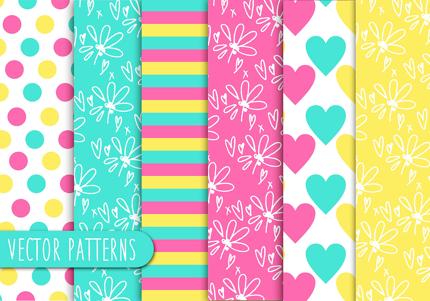 Colorful Kids Pattern Set