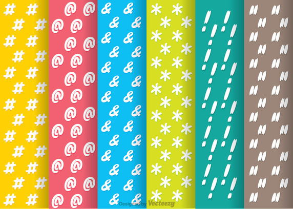 Hashtag Social Media Pattern Vector