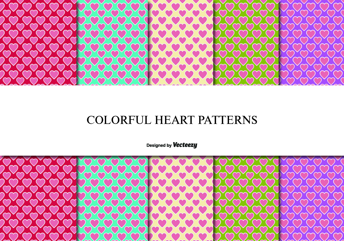 Cute Heart Pattern Set