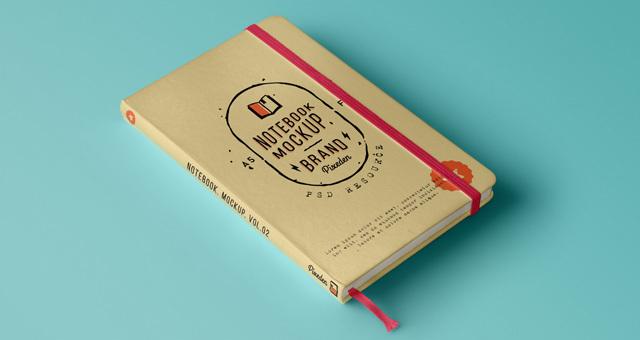 Classic Psd Notebook Mockup Vol2