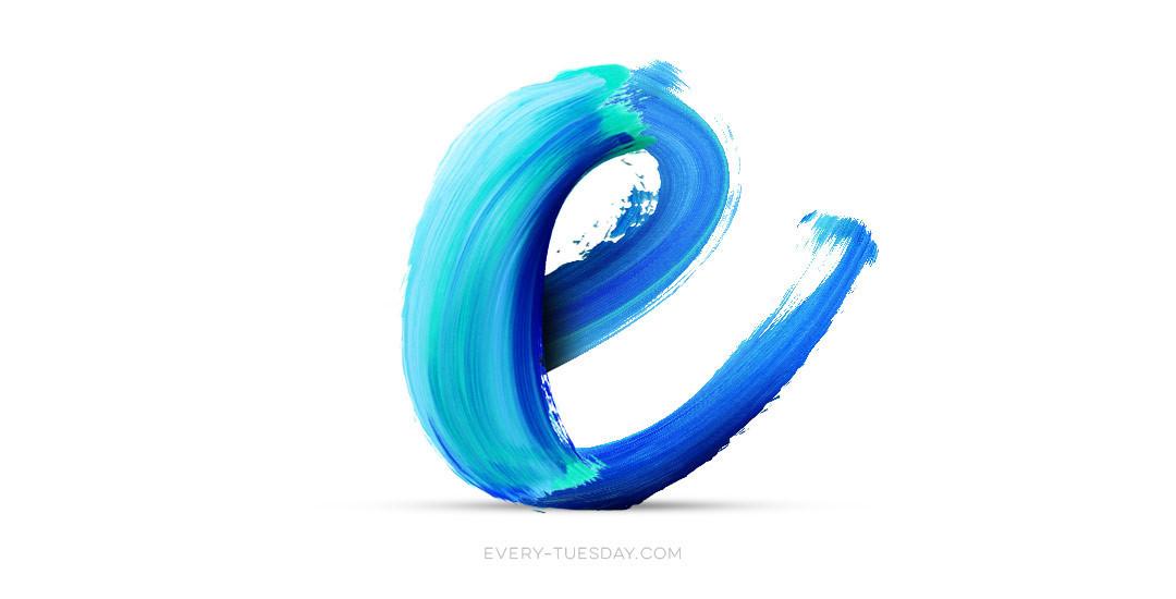 アルファベットを水彩テイストで描く方法