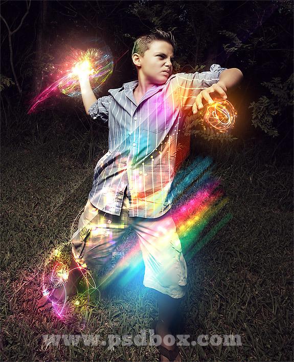 キラキラと光るエフェクトを作る方法