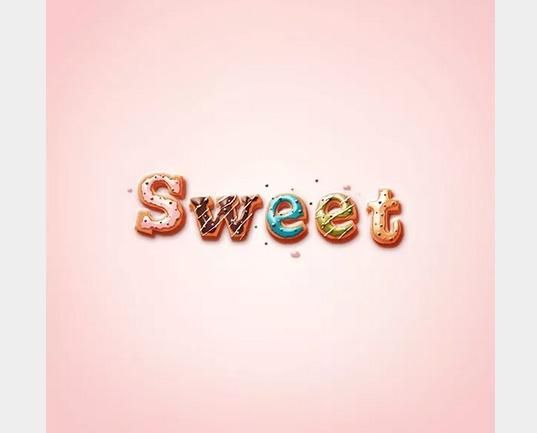 美味しそうなドーナツで文字をデザインする方法