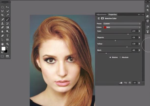 モデルの髪色のみを変える方法