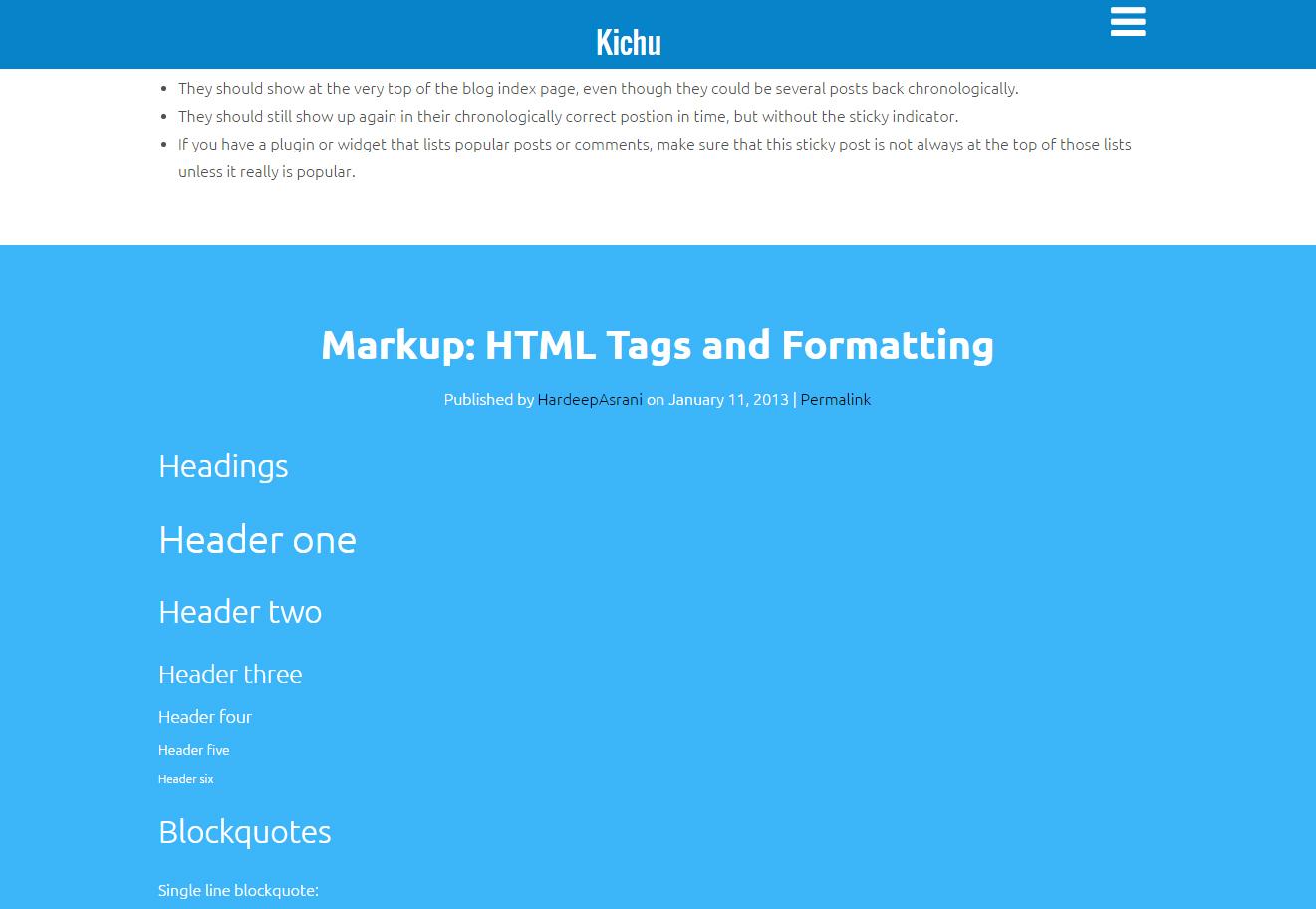 Kichu -WordPressテーマ-