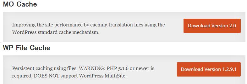 MO Cache + WP File Cache