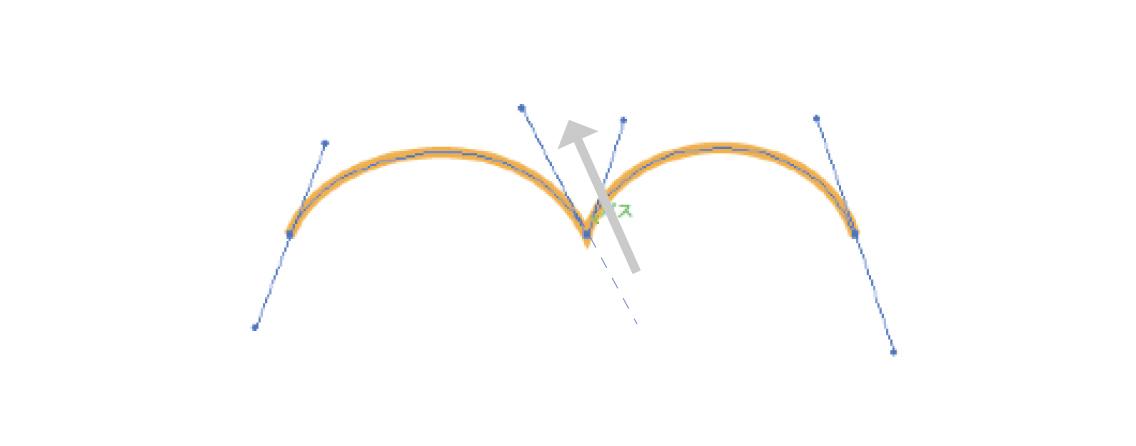 曲線の折り返しを描画する