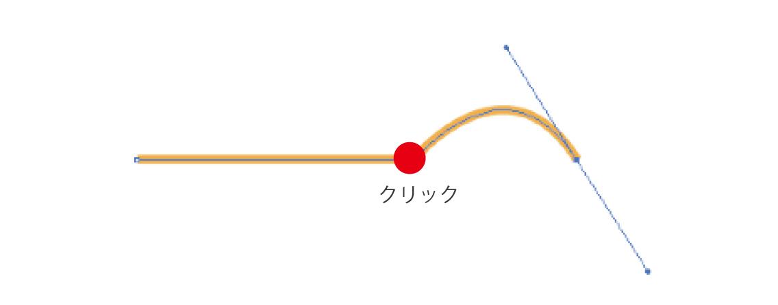 直線から曲線を描画する