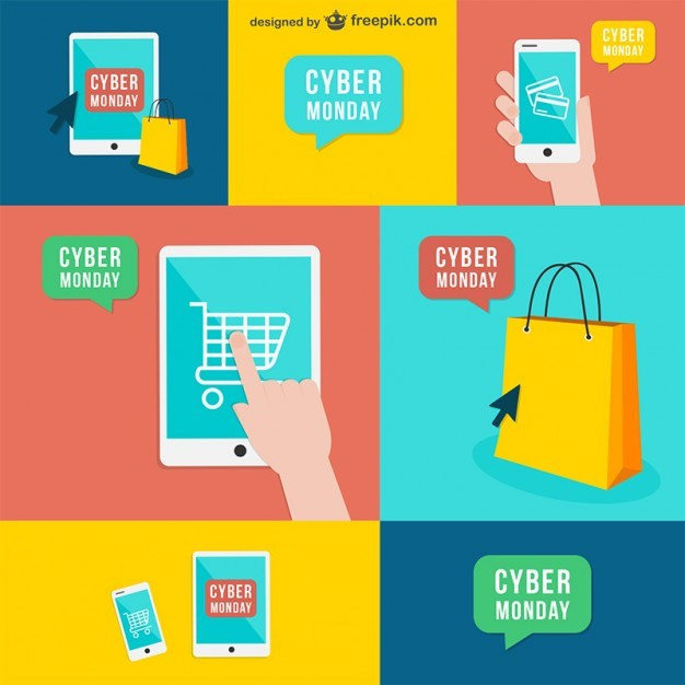 Cyber Monday Pack Free Vector