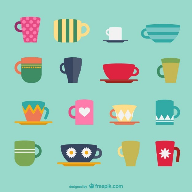 Coffee Cup Pack Free Vector