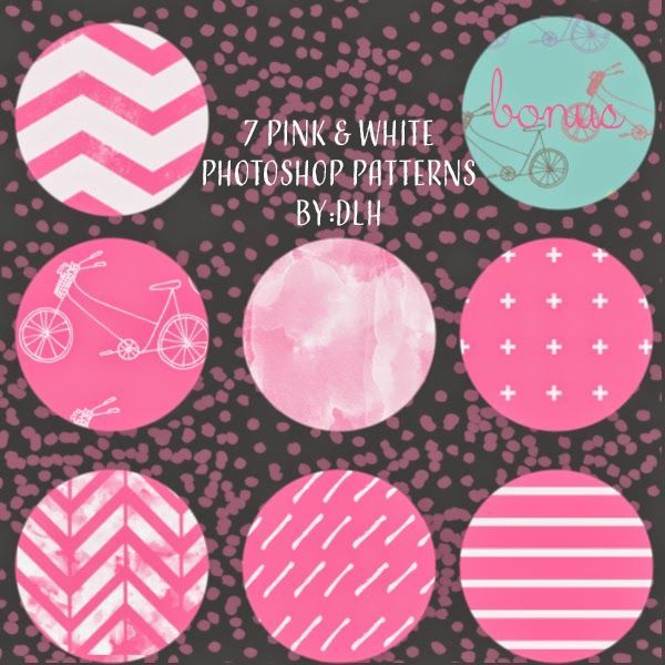 pink and white seamles patterns by DLH