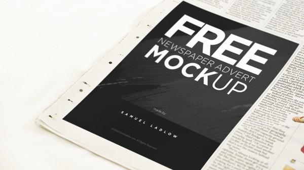 Newspaper Advert Mockup