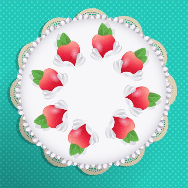 立体感のあるケーキのイラストを描画する方法