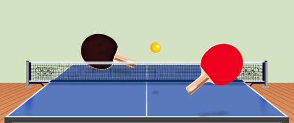 卓球台を立体的に描く方法