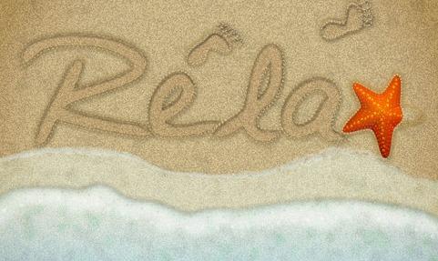 砂浜にテキストを描く方法
