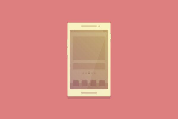 フラットスタイルのスマートフォンを描く方法
