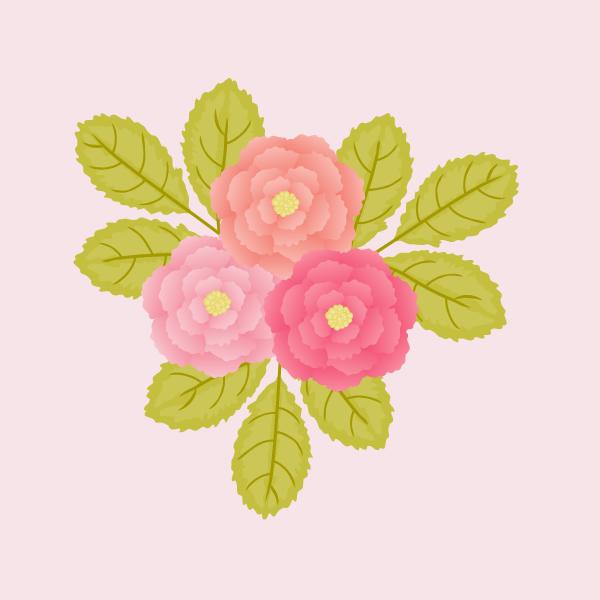 ワープ機能を使って花をデザインする方法