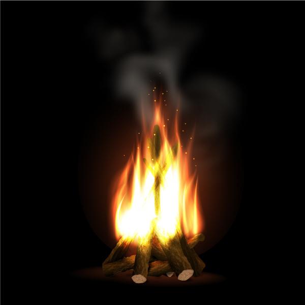 本物そっくりなたき火を表現する方法