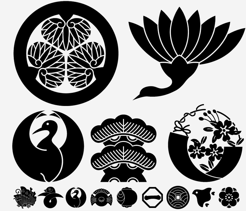 日本の伝統素材 家紋イラスト屋号素材集