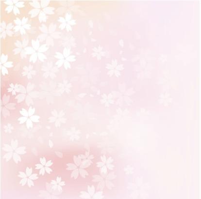 春らしい淡いぼかしが美しい桜吹雪背景