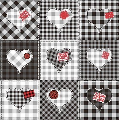 バレンタイン飾り素材・詰め合わせ130個【無料ベクター】