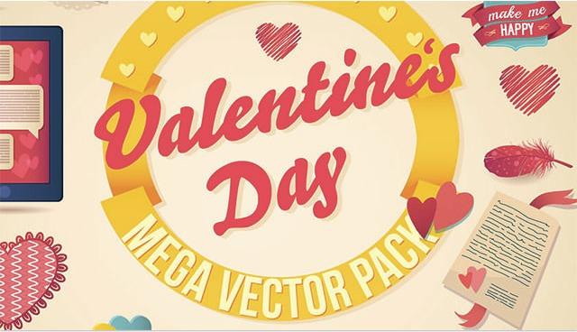 バレンタインデーならお任せ!無料ベクターデザイン素材Valentine's Vector pack
