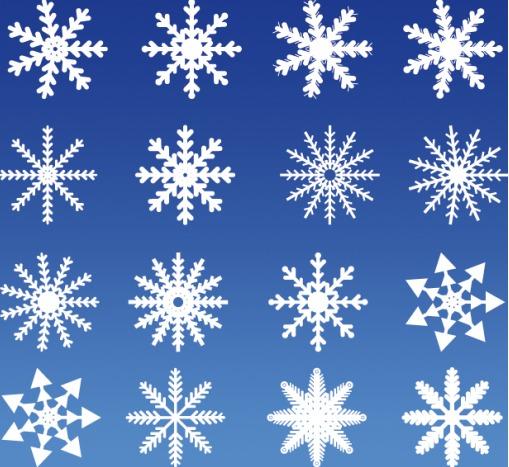 冬デザインに使える雪の結晶素材