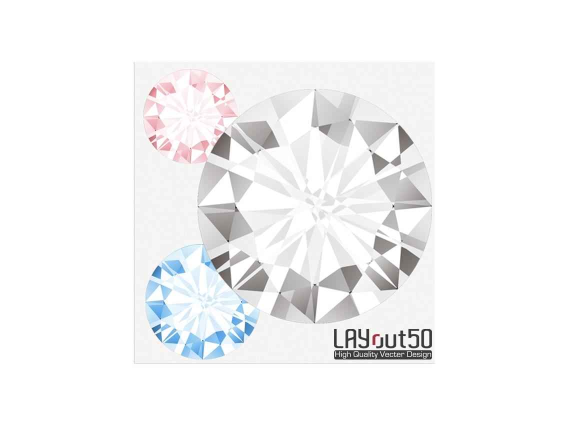 キラキラ素材ダイヤモンド EPS / PNG