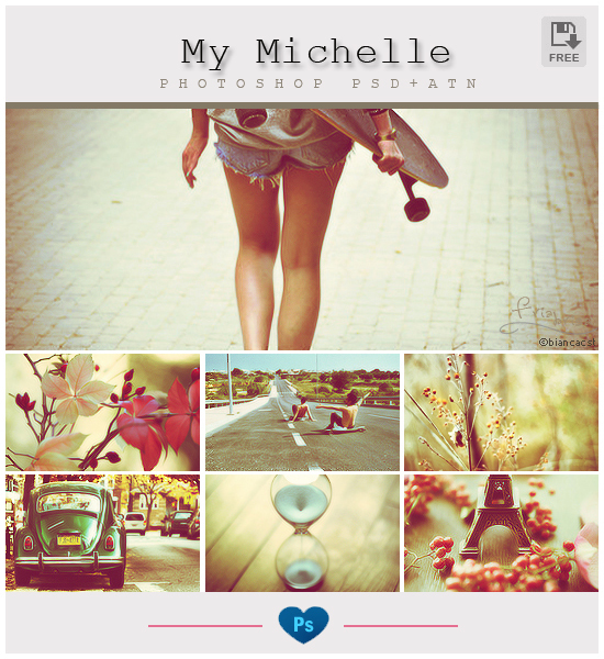 My Michelle - Photoshop PSD-ATN