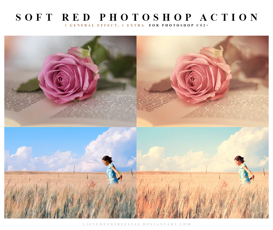 Soft red Photoshop Action