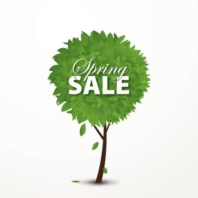 Spring Sale Concept Treeby