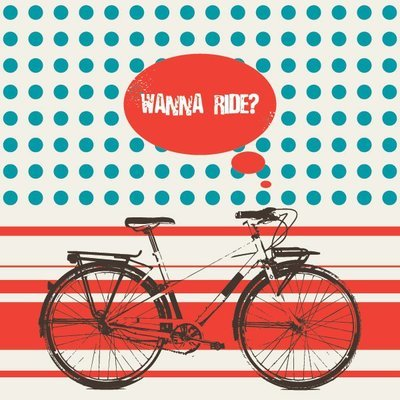 Retro Bicycle Riding Poster