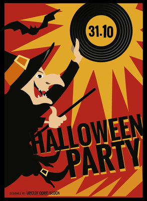 Halloween Witch Party Poster