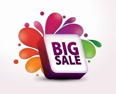 3D Splashed Big Sale Box