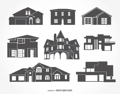House silhouettes collection