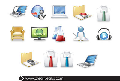 3D Science & Technology Icons