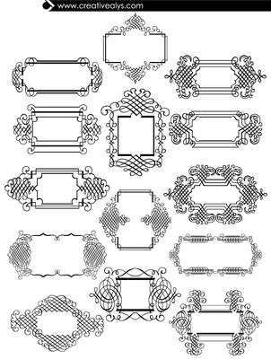 Ornamented Calligraphic Frame Set