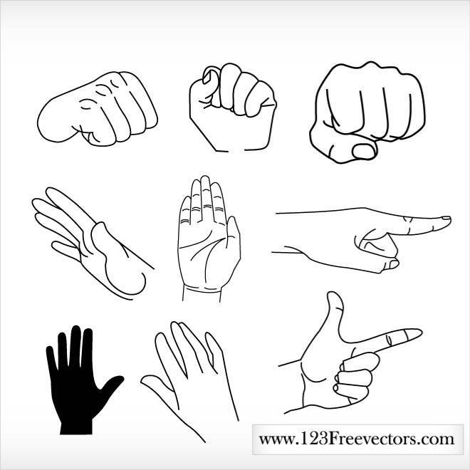 HANDS AND FINGERS CLIP ART.ai