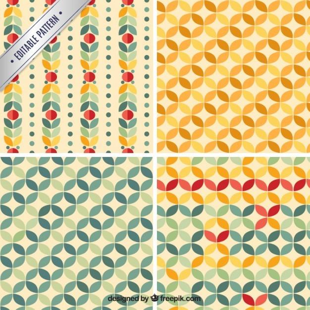 Geometric retro patterns