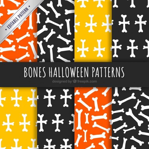 Bones halloween patterns