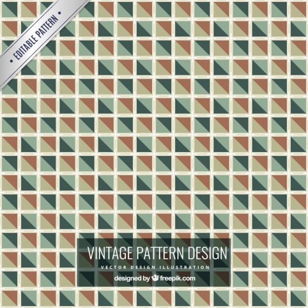 Vintage checkered pattern