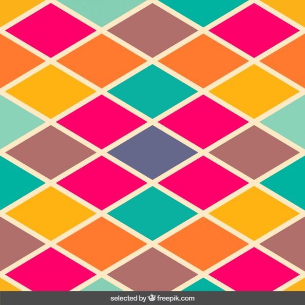 Vintage colors rhombus pattern