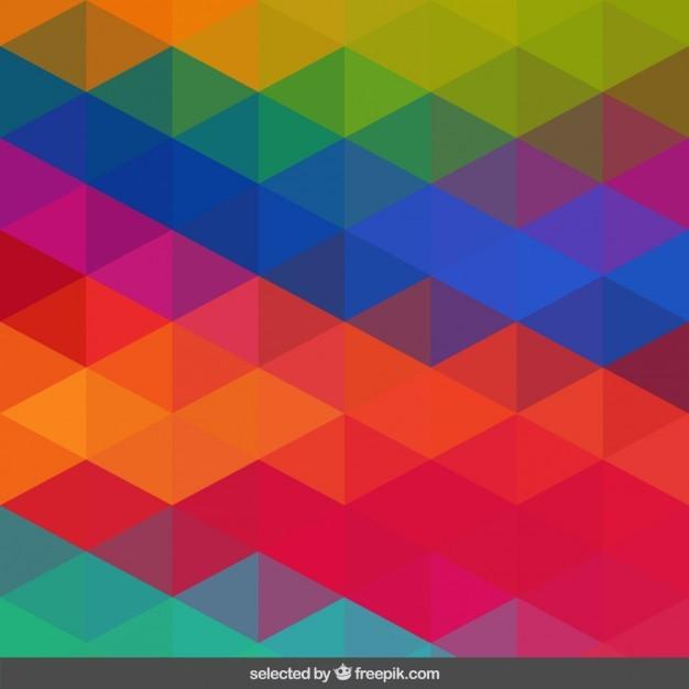 Vivid colors geometric pattern