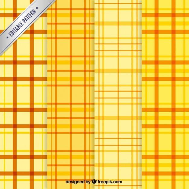 Yellow tartan patterns
