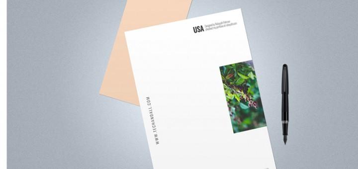 Letter & Envelop Mock up